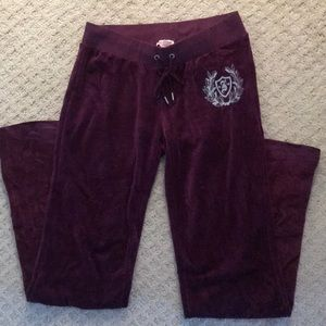 Plum Juicy Couture track pants